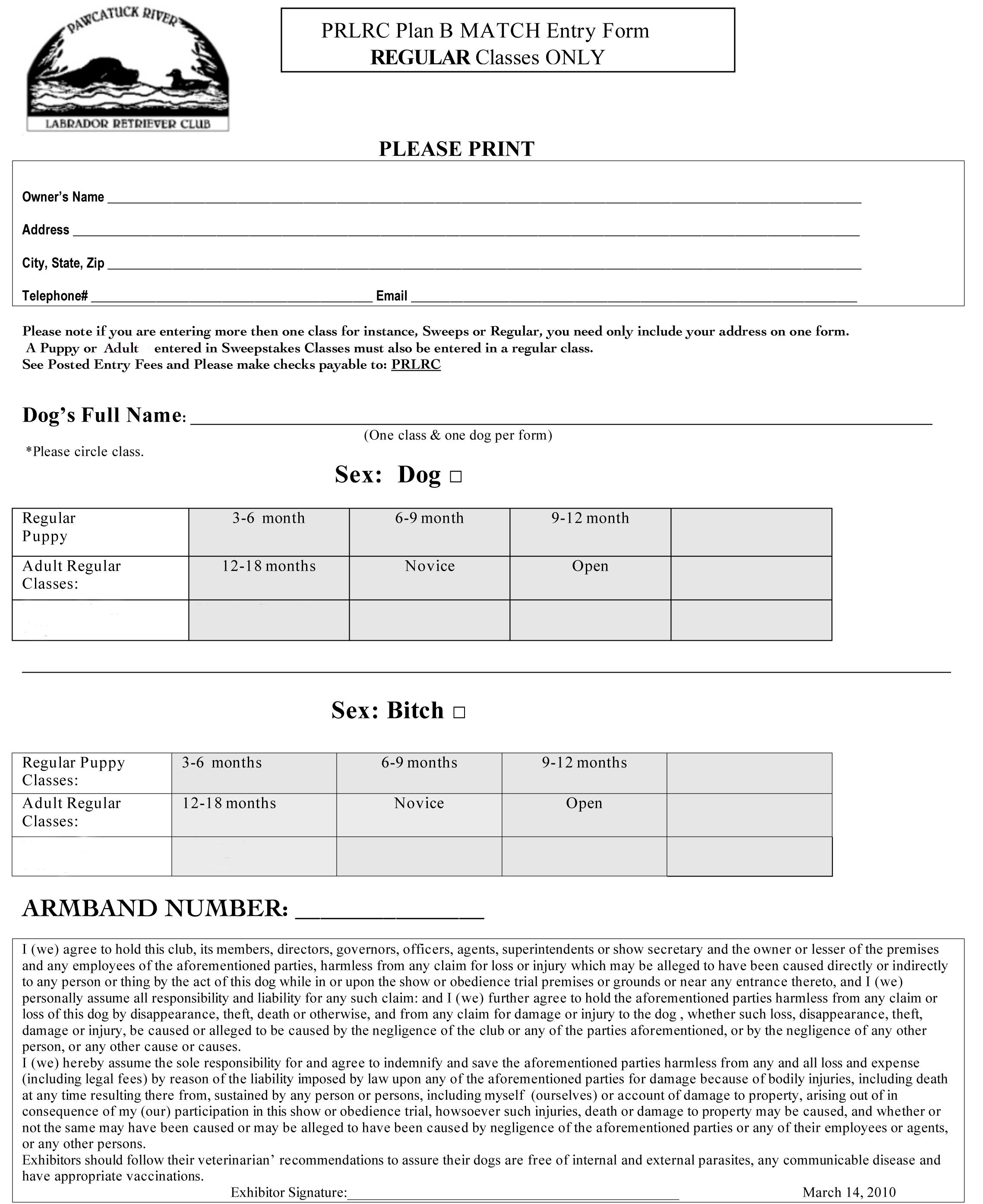 Microsoft Word – Match Entry Form_Regular Classes.doc