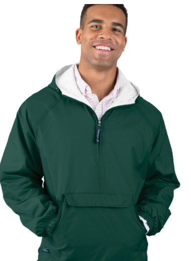 classic hooded lined pullover windbreaker